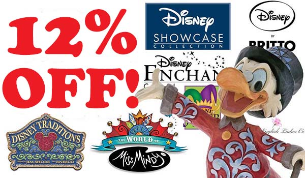 12% discount on full price Disney figurines at The Present Shop.