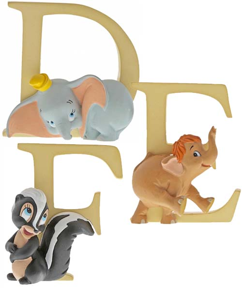 Disney Alphabet D, E and F