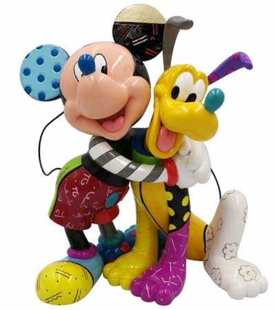 Disney by Britto Mickey and Pluto Figurine 6007094 RRP £85 - The Present Shop Preorder offer £69.70 (18% discount)