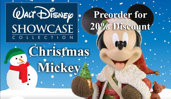 Disney Showcase Christmas Mickey Mouse Figurine 6003771 RRP £199 – The Present Shop Preorder offer £159.20 (20% discount)