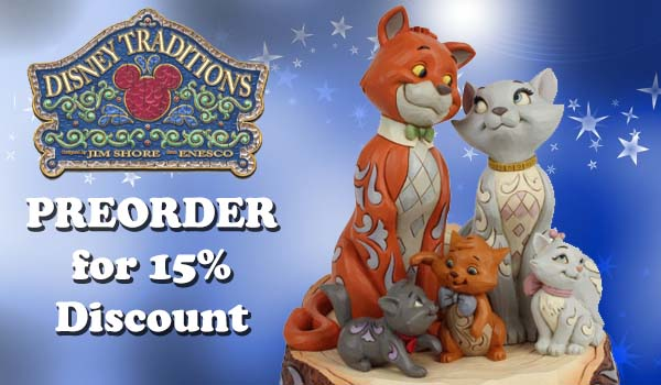 Disney Traditions Carved by Heart Aristocats Figurine 6007057