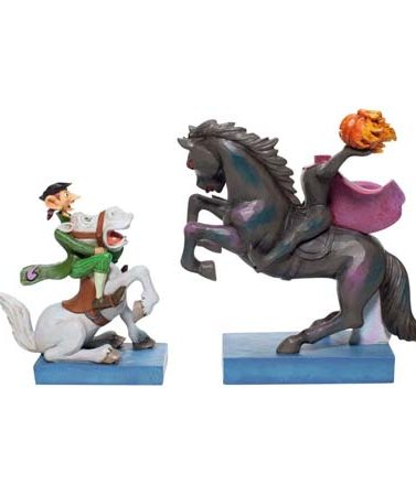 Disney Traditions Headless Horseman and Ichabod Crane Figurine 6007059 by Jim Shore