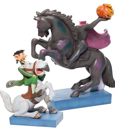 Headless Horseman and Ichabod Crane Figurine 6007059