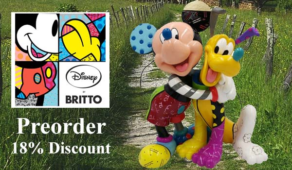 Disney by Britto Mickey Mouse and Pluto Figurine 6007094