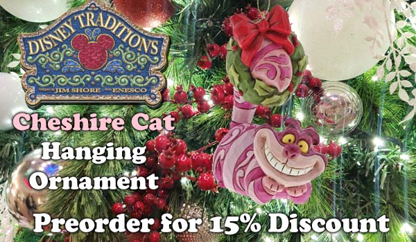 Disney Traditions Cheshire Cat Hanging Ornament A30358