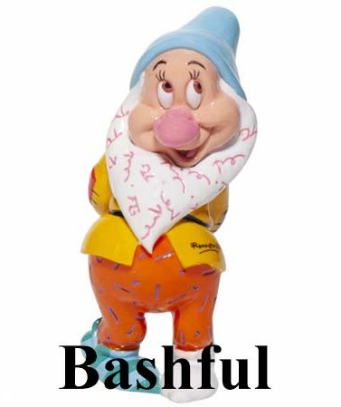 Disney by Britto Seven Dwarfs - Bashful