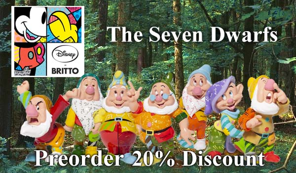 Disney by Britto The Seven Dwarfs new for 2020.