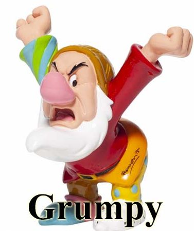 Disney by Britto Seven Dwarfs - Grumpy