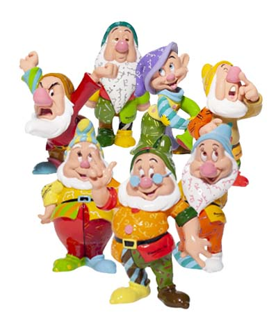 Disney by Britto new seven dwarfs figurines for 2020.