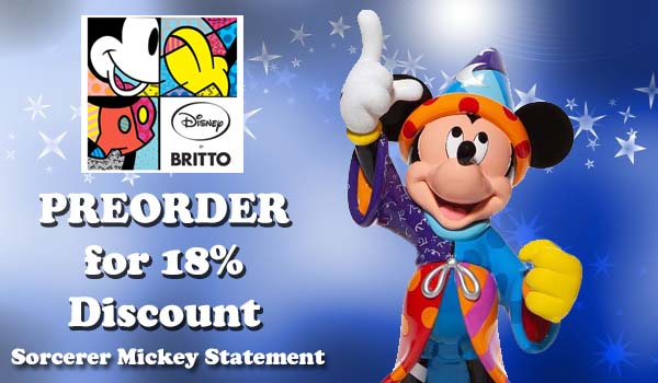 Disney by Britto Sorcerer Mickey Mouse Statement Figurine 6007259