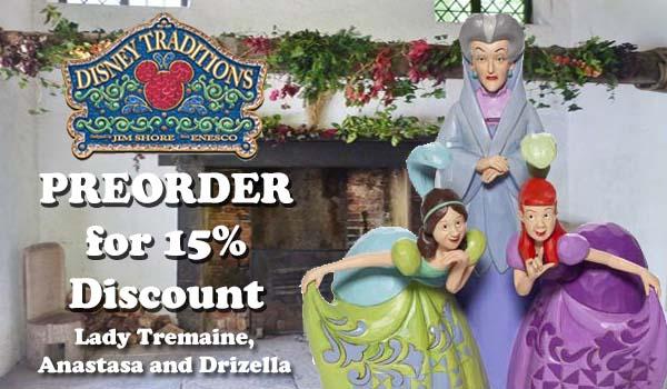 Disney Traditions by Jim Shore. Disney Villains, Lady Tremaine, Anastasa and Drizella.
