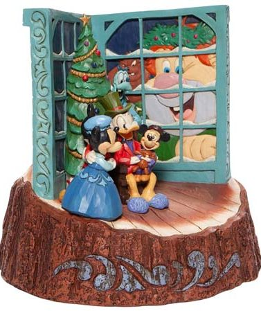 Disney Traditions Carved by Heart Mickey Mouse Christmas Carol Figurine 6007060